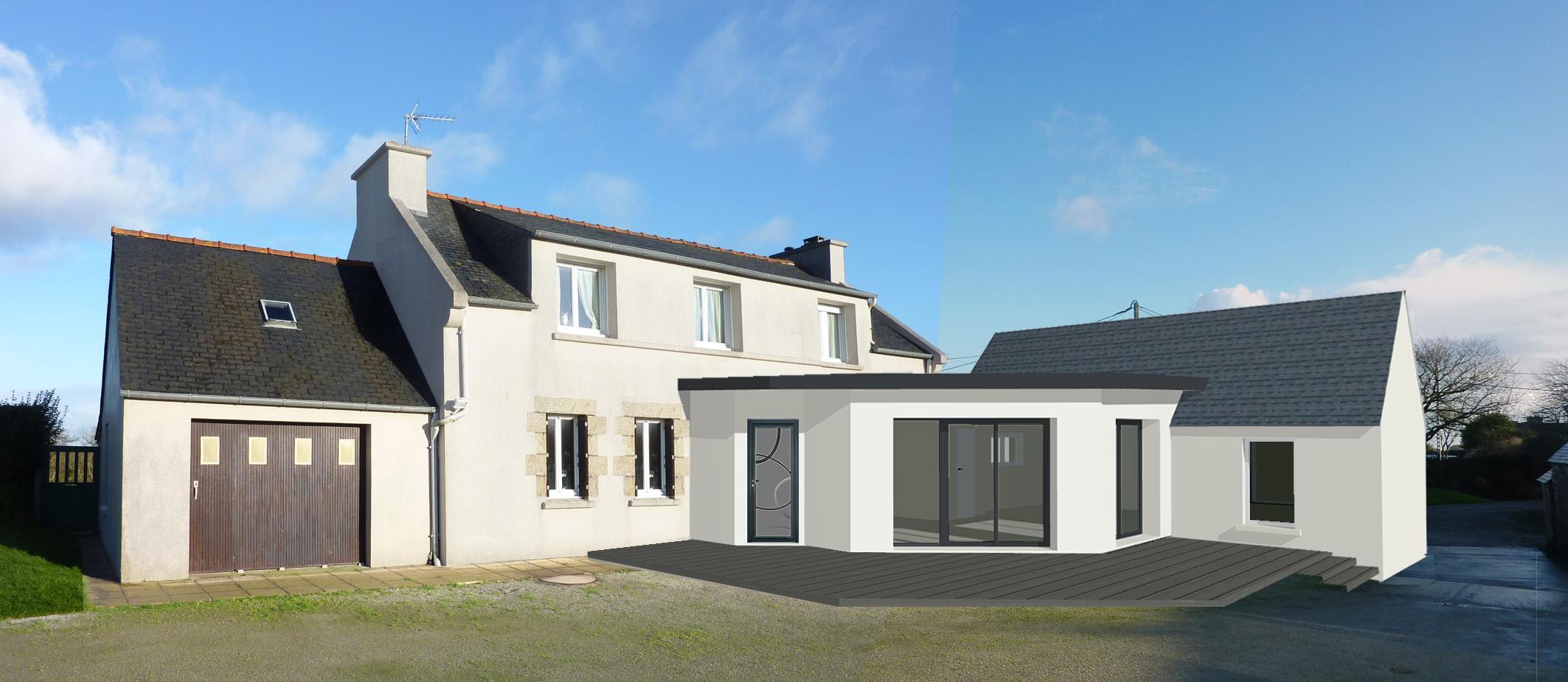dependance d une maison - lumi re et modernit pour cette extension reliant une
