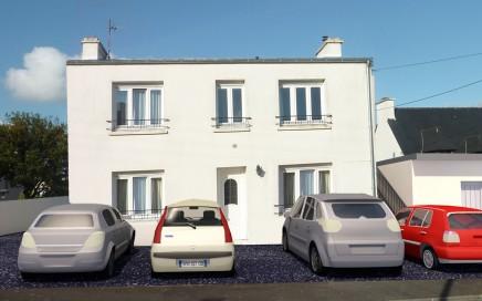 maison rénovée création de deux logements